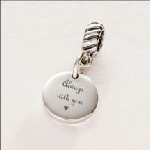 Always with You Memorial Charm, Sterling Silver